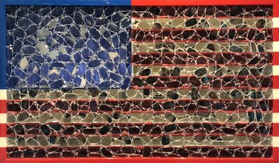 David Datuna, 'USA Flag ', 2018