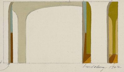 Helen Lundeberg, 'Study for Arches #5', 1962