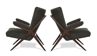 Franco Albini, 'Pair of CA 832 Lounge Chairs', ca. 1948
