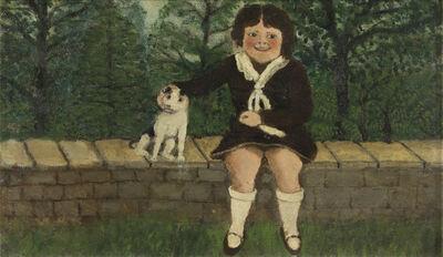 John Kane, 'Child Seated on Wall'
