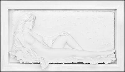 Bill Mack, 'Bill Mack Large Bonded Sand Relief Sculpture Fascination Nude Female Framed Art', 1991