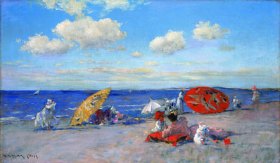 William Merritt Chase, 'At the Seaside', ca. 1892