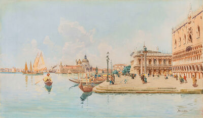 Antonietta Brandeis, 'The Basin of Venice with the Doge's Palace', ca. 1890