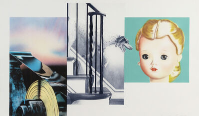 James Rosenquist, 'Dog Descending Staircase', 1980-1982