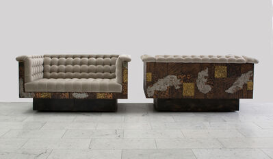 Paul Evans, 'Paul Evans Bronze, Copper, and Pewter Patchwork Settees, USA, c.1970', ca. 1970