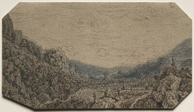 Hercules Seghers, 'Enclosed Valley', c. 1623-1630