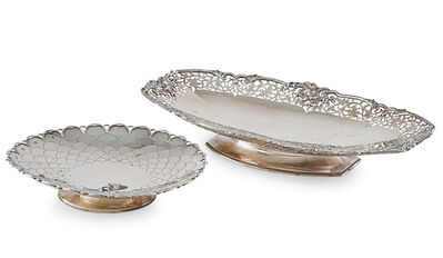 Asprey, 'Asprey English Silver Footed Tray, Etc'