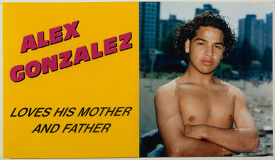 Ken Lum, 'Alex Gonzalez Loves his Mother and Father', 1989