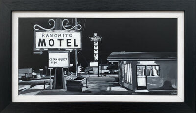 Angela Wakefield, 'Americana Painting of Ranchito Motel, Route 66, New Mexico, USA', ca. 2017