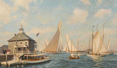 Anthony D. Blake, 'Race Day, Newport, 1893', 1991
