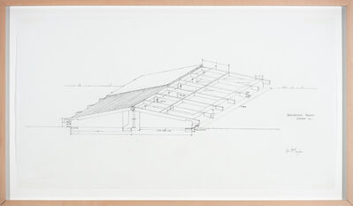Alice Aycock, 'Architectural Project, Summer ´73, (Low Building with Dirt Roof)', 1973-2012