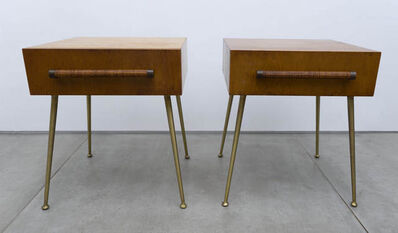 T.H. Robsjohn-Gibbings, 'Glove Box Nightstands (pair)'
