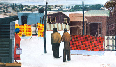 Sam Nhlengethwa, 'Street Scene With Figures', 1995