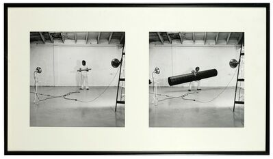 William Wegman, 'Which Tube Attracts the Dog', 1971