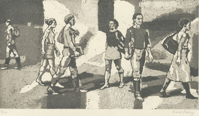 Isabel Bishop, 'Students Outdoors', 1977