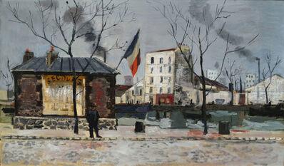 Bernard Lamotte, 'Along the Canal, Paris, France', 20th Century