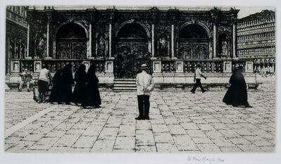 Wilfred Fairclough, 'Piazza Nuns, Venice', 1984