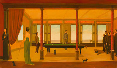 Philip Campbell Curtis, 'Billiard Game', 1971