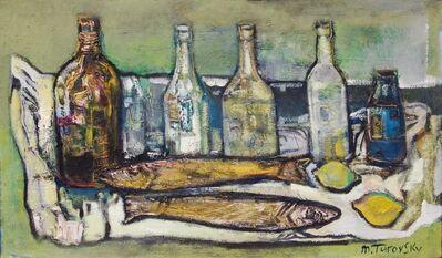 Mikhail Turovsky, 'Still Life with Bottles and Fish', ca. 1985
