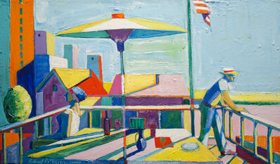 Roland Petersen, 'The Terrace with Flag', 2002