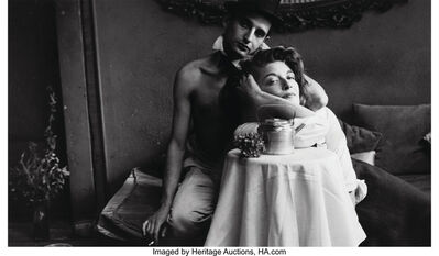 Saul Leiter, 'Angelo Ippolito with Anita Berger', circa 1950s