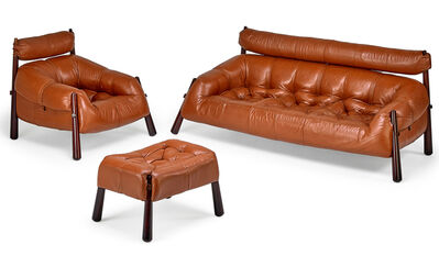 Percival Lafer, 'Sofa, lounge chair, and ottoman, Brazil', 1970s