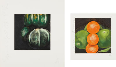 Donald Sultan, 'Squash from, Fruits and Flowers; and Apples and Oranges', 1981 and 1987