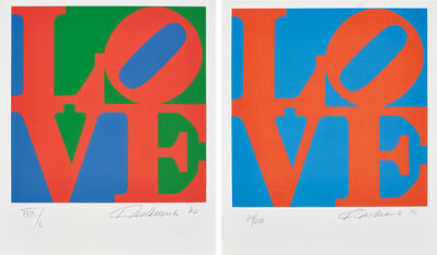 Robert Indiana, 'Book of Love: two plates', 1996