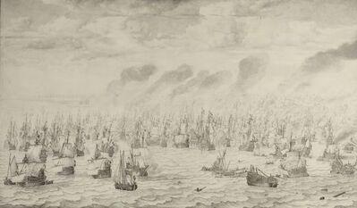 Willem van de Velde the Elder, 'The Battle of Terheide', 1657
