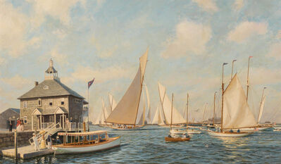 Anthony D. Blake, 'Race Day, Newport', 1893 and 1991