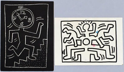 Keith Haring, 'Keith Haring announcement cards (1988 & 1990)', 1988