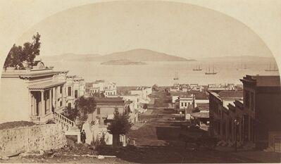 Carleton E. Watkins, 'Alcatraz Island and San Francisco Bay, Looking North', 1880s