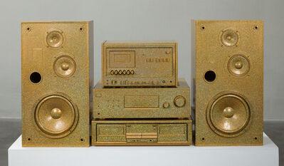 Sadie Barnette, 'Untitled (Gold Sound System)', 2018