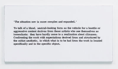 Art & Language, 'Painting I, No.7', 1966