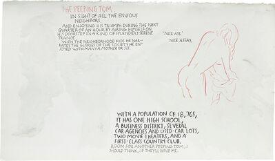 Raymond Pettibon, 'Untitled (Peeping Tom)', 1992