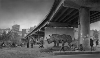 Nick Brandt, 'Underpass with Rhino & Egret', 2014