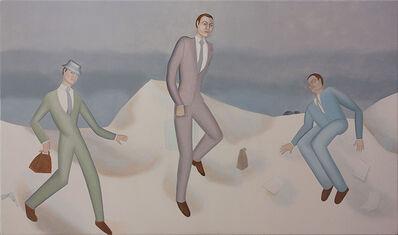 Elizabeth Fox, 'Businessmen in the snow', 2014