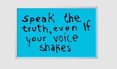 Sam Durant, 'Speak the Truth Even If Your voice Shakes', 2015