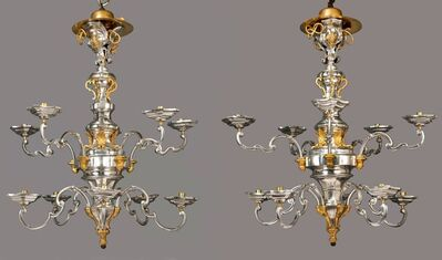 Unknown, 'THE MARCELLO PAPINIANO CUSANI SILVER CHANDELIERS', 1758