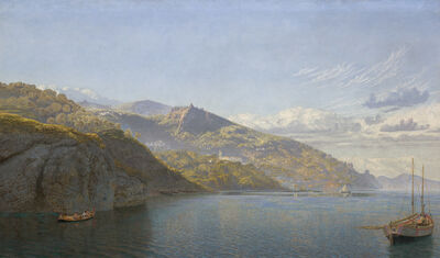 John Brett, 'Massa, Bay of Naples', 1864