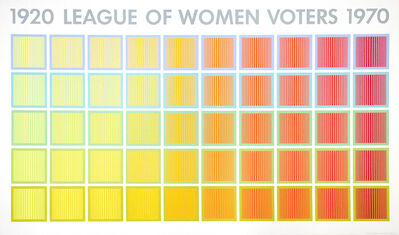 Richard Anuszkiewicz, 'League of Women Voters', 1969