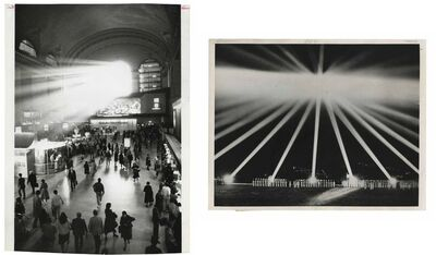 Murray Moss, 'TQ 17/18: Grand Central Station/WWII Night Lights', 1985/1940