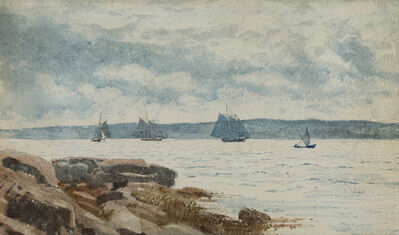 Winslow Homer, 'Sailboats at Gloucester', 1880