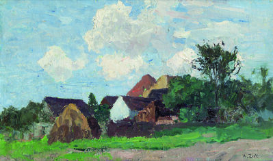 Alfred Zoff, 'Village near Krems', 1900