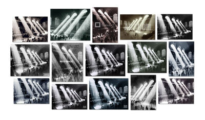Penelope Umbrico, '(Not) Easy Canvases, from, Four photographs of Rays of Sunlight in Grand Central Station…. 2015', 2015