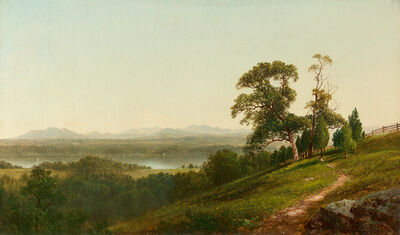 David Johnson, 'View of the Hudson from Barrytown, New York', 1872