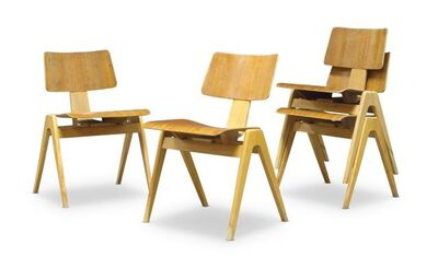 Robin Day, 'a set of four Hillestak chairs for Hille', c. 1950s