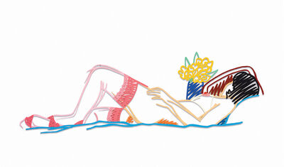 Tom Wesselmann, 'Nude with Bouquet and stockings', 1985