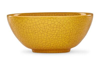 Glen Lukens, 'Bowl, yellow crackle glaze, Los Angeles, CA'