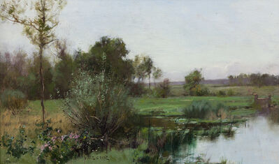 Bruce Crane, 'Meadow in Spring', 1880-1889